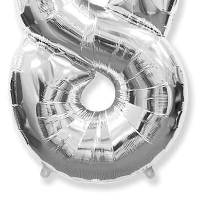Balão Prata Número 8