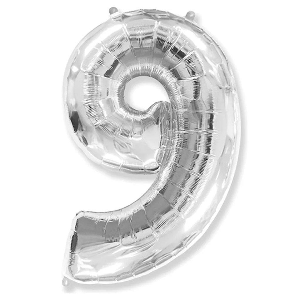 Balão Prata Número 9