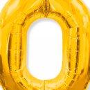 Balão Dourado Número 0