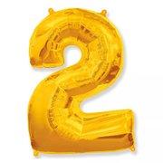 Balão Dourado Número 2