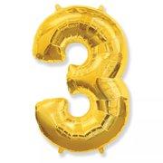 Balão Dourado Número 3