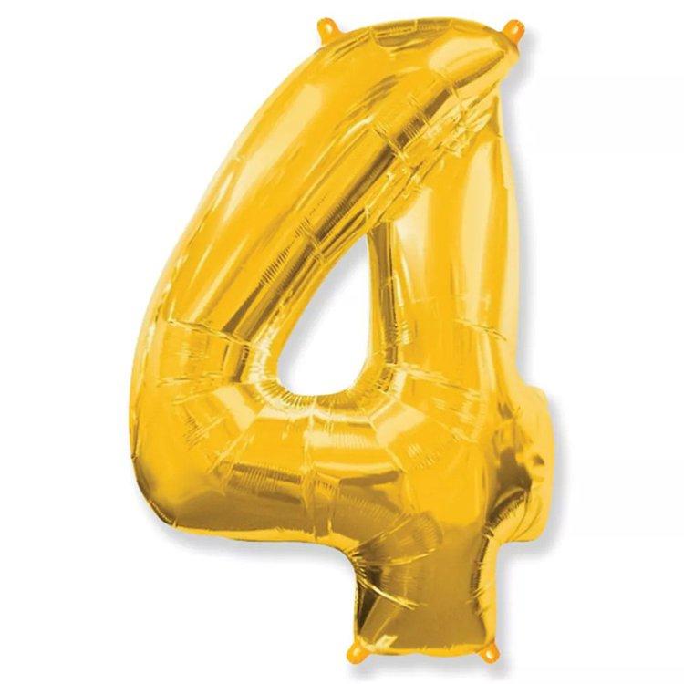 Balão Dourado Número 4