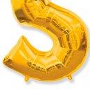 Balão Dourado Número 5