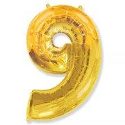 Balão Dourado Número 9