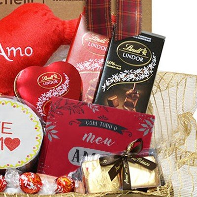 Cesta Romântica de Chocolates Box