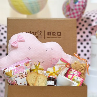 Cesta de Maternidade Para Menina Box