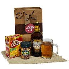Kit de Cerveja e Petisco na Sacola Kraft