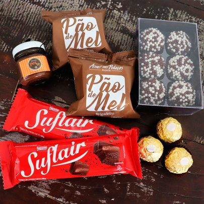 Kit de Chocolates para presente na Sacola Kraft