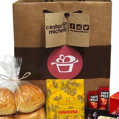Kit de Café da Manhã na Sacola Kraft