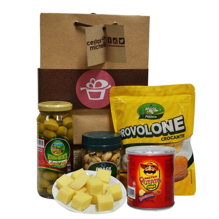 Kit de Petiscos Gourmet na Sacola Kraft