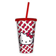 Copo Canudo Hello Kitty