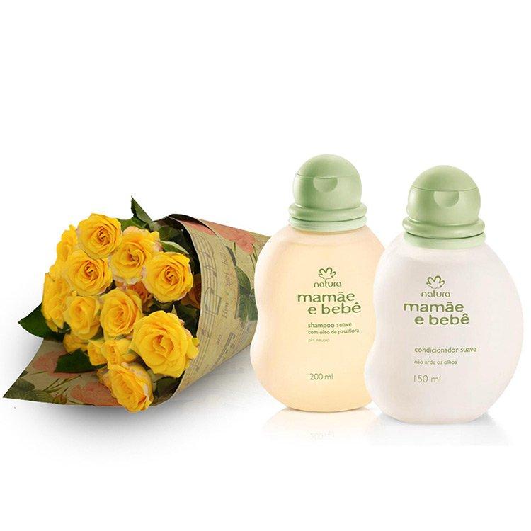 Kit Rosas Amarelas Mamãe e Bebê
