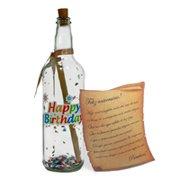 Carta de Aniversário na Garrafa