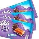 Kit com 3 Barras de Chocolate Milka Oreo