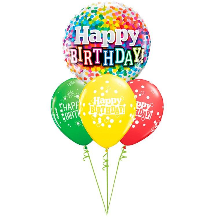 Buquê de Balões de Aniversário