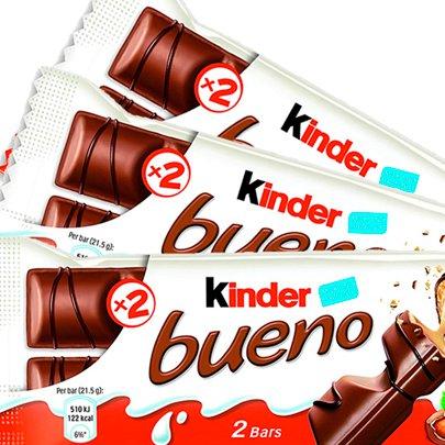 Chocolate Kinder Bueno com 43g 3 Unidades
