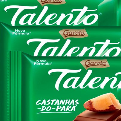 Chocolate Talento Castanha do Pará 90g com 3 Unidade