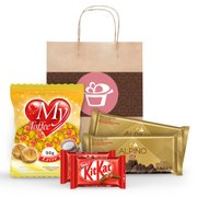 Kit Presente Chocolate Sacola Kraft