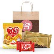 Kit Presente Chocolate Sacola Kraft