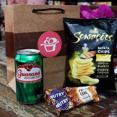 Kit Presente Hora do Lanche Sacola Kraft