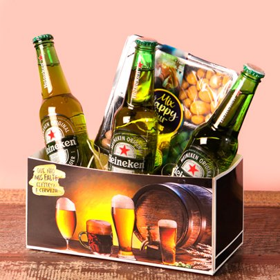 Kit Cerveja Heineken e Mix de Amendoim