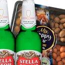 Kit Cerveja Stella Artois e Mix de Amendoim