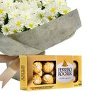 Margaridinhas Brancas e Ferrero Rocher