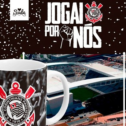 Kit Caneca e Quadro Corinthians Sude