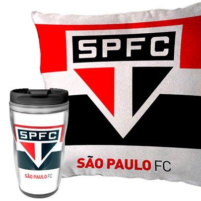 Kit Almofada e Copo São Paulo Sude