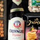 Cesta Cerveja Erdinger e Aperitivos Box