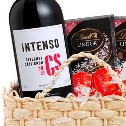 Cesta Vinho, Chocolate e Pistache