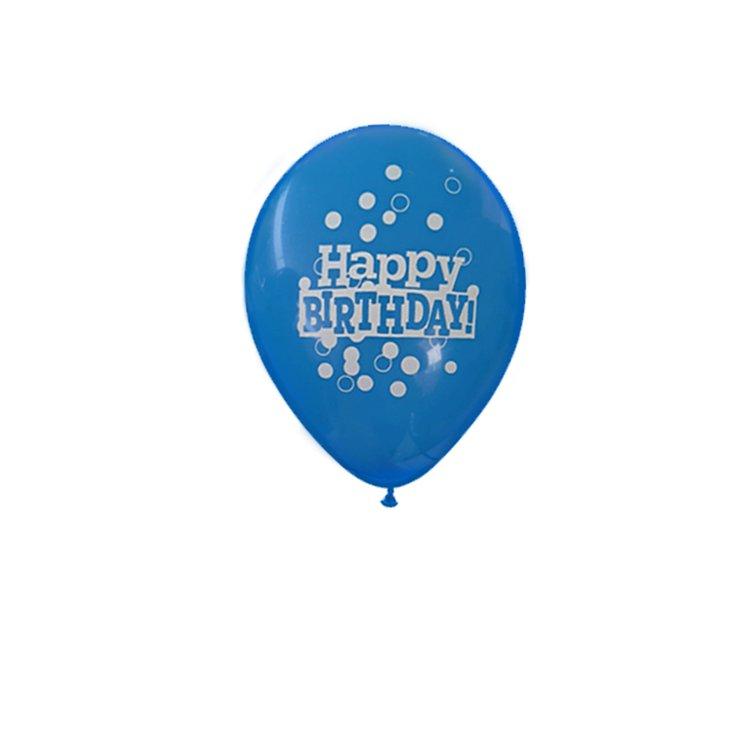 Balão Látex Feliz Aniversário Azul