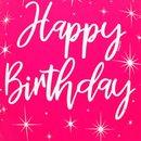 Balão Latex Happy Birthday Marsala