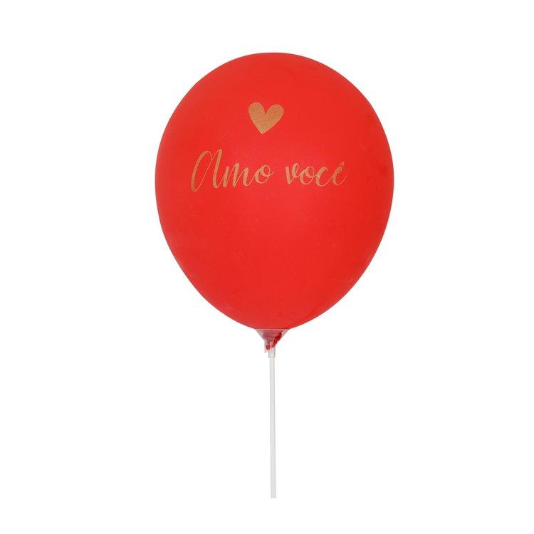 Balão Latex Romântico Amo Você
