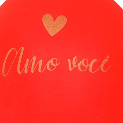 Balão Latex Romantico Amo Você