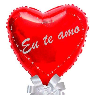 Balão Eu Te Amo Coração e Chandon Baby