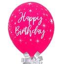 Balão Happy Birthday Marsala e Chocolate Lindt