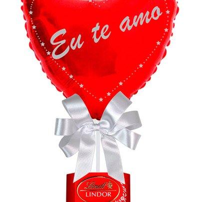Balão Eu Te Amo e Chocolate Lindt