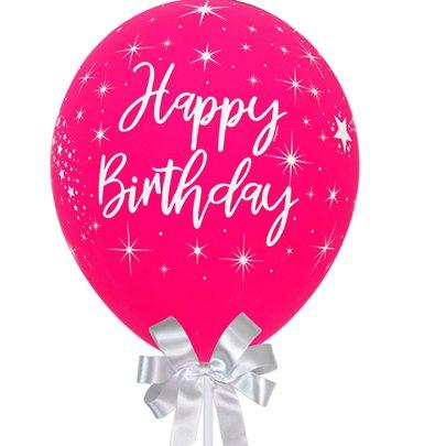 Balão Happy Birthday Marsala e Chandon Baby