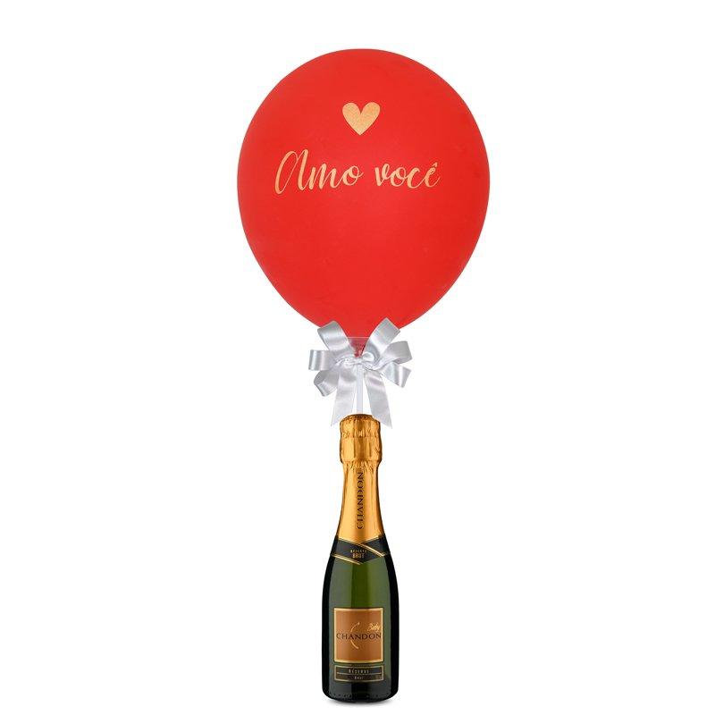 Balão Amo Você e Chandon Baby