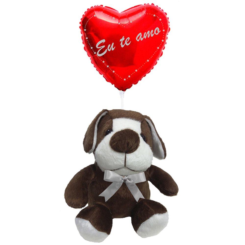 Balão Eu Te Amo e Cachorro Bob