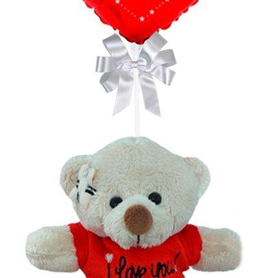Balão Eu Te Amo e Urso Dodói