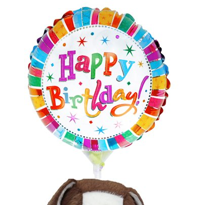 Balão Happy Birthday e Cachorro Bob