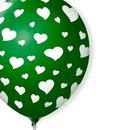 Balão Látex Verde Musgo Corações