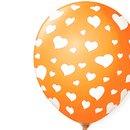 Balão Látex Laranja Corações