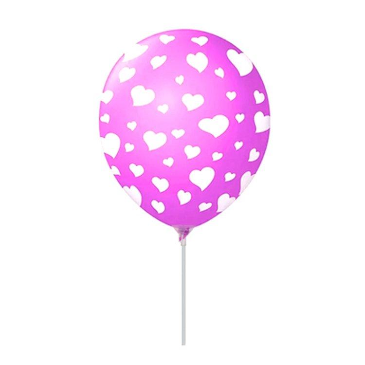 Balão Látex Lilás Corações