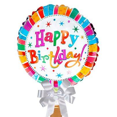 Balão Happy Birthday e Vinho Menrisa
