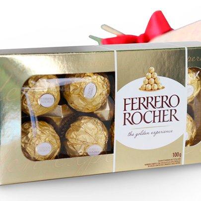 Buquê de 4 Rosas Vermelhas e Ferrero Rocher