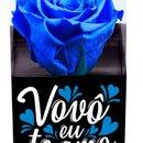 Rosa Encantada Azul Vovô Eu Te Amo