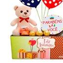 Cesta de Aniversário com Balões